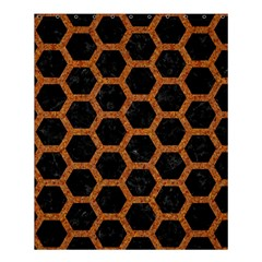 HEXAGON2 BLACK MARBLE & RUSTED METAL (R) Shower Curtain 60  x 72  (Medium)