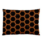 HEXAGON2 BLACK MARBLE & RUSTED METAL (R) Pillow Case (Two Sides) Back