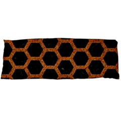 HEXAGON2 BLACK MARBLE & RUSTED METAL (R) Body Pillow Case Dakimakura (Two Sides)