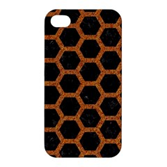 HEXAGON2 BLACK MARBLE & RUSTED METAL (R) Apple iPhone 4/4S Premium Hardshell Case