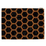 HEXAGON2 BLACK MARBLE & RUSTED METAL (R) Cosmetic Bag (XXL)  Back
