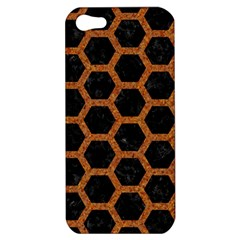 HEXAGON2 BLACK MARBLE & RUSTED METAL (R) Apple iPhone 5 Hardshell Case
