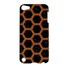 HEXAGON2 BLACK MARBLE & RUSTED METAL (R) Apple iPod Touch 5 Hardshell Case