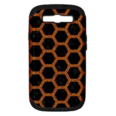 HEXAGON2 BLACK MARBLE & RUSTED METAL (R) Samsung Galaxy S III Hardshell Case (PC+Silicone)