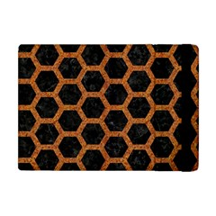 HEXAGON2 BLACK MARBLE & RUSTED METAL (R) Apple iPad Mini Flip Case