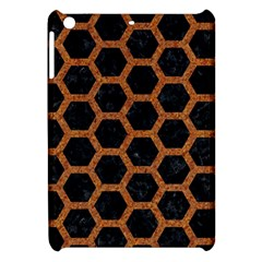 HEXAGON2 BLACK MARBLE & RUSTED METAL (R) Apple iPad Mini Hardshell Case