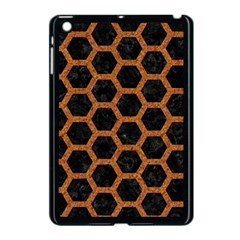 HEXAGON2 BLACK MARBLE & RUSTED METAL (R) Apple iPad Mini Case (Black)