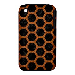 Hexagon2 Black Marble & Rusted Metal (r) Iphone 3s/3gs by trendistuff