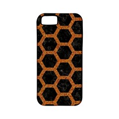 HEXAGON2 BLACK MARBLE & RUSTED METAL (R) Apple iPhone 5 Classic Hardshell Case (PC+Silicone)
