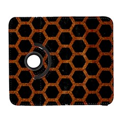 HEXAGON2 BLACK MARBLE & RUSTED METAL (R) Galaxy S3 (Flip/Folio)