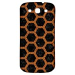 HEXAGON2 BLACK MARBLE & RUSTED METAL (R) Samsung Galaxy S3 S III Classic Hardshell Back Case Front