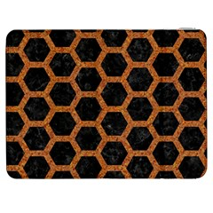 HEXAGON2 BLACK MARBLE & RUSTED METAL (R) Samsung Galaxy Tab 7  P1000 Flip Case