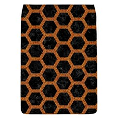 HEXAGON2 BLACK MARBLE & RUSTED METAL (R) Flap Covers (L)