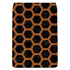 HEXAGON2 BLACK MARBLE & RUSTED METAL (R) Flap Covers (S)