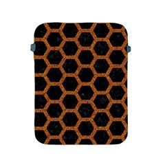 HEXAGON2 BLACK MARBLE & RUSTED METAL (R) Apple iPad 2/3/4 Protective Soft Cases