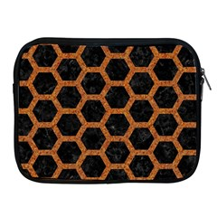 HEXAGON2 BLACK MARBLE & RUSTED METAL (R) Apple iPad 2/3/4 Zipper Cases