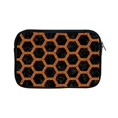 HEXAGON2 BLACK MARBLE & RUSTED METAL (R) Apple iPad Mini Zipper Cases