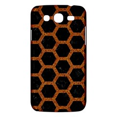 HEXAGON2 BLACK MARBLE & RUSTED METAL (R) Samsung Galaxy Mega 5.8 I9152 Hardshell Case