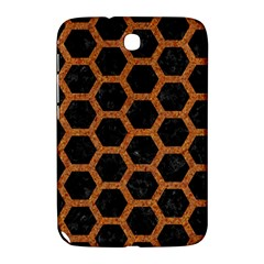 Hexagon2 Black Marble & Rusted Metal (r) Samsung Galaxy Note 8 0 N5100 Hardshell Case  by trendistuff