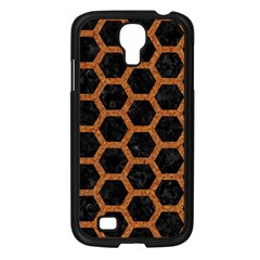 HEXAGON2 BLACK MARBLE & RUSTED METAL (R) Samsung Galaxy S4 I9500/ I9505 Case (Black)