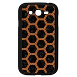 HEXAGON2 BLACK MARBLE & RUSTED METAL (R) Samsung Galaxy Grand DUOS I9082 Case (Black) Front