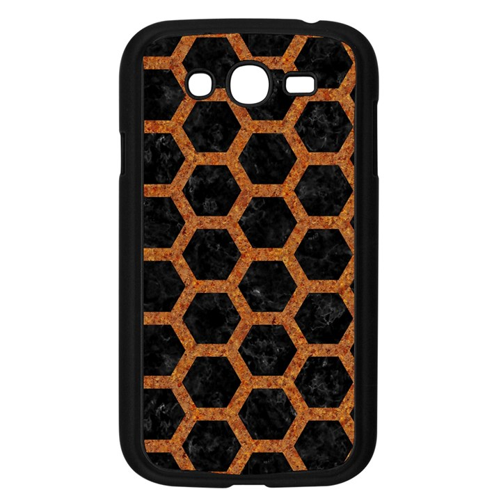 HEXAGON2 BLACK MARBLE & RUSTED METAL (R) Samsung Galaxy Grand DUOS I9082 Case (Black)