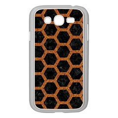 HEXAGON2 BLACK MARBLE & RUSTED METAL (R) Samsung Galaxy Grand DUOS I9082 Case (White)