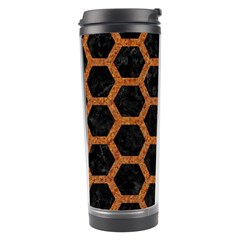 HEXAGON2 BLACK MARBLE & RUSTED METAL (R) Travel Tumbler