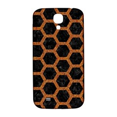 HEXAGON2 BLACK MARBLE & RUSTED METAL (R) Samsung Galaxy S4 I9500/I9505  Hardshell Back Case