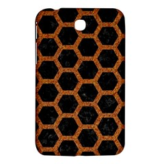 HEXAGON2 BLACK MARBLE & RUSTED METAL (R) Samsung Galaxy Tab 3 (7 ) P3200 Hardshell Case