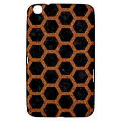 HEXAGON2 BLACK MARBLE & RUSTED METAL (R) Samsung Galaxy Tab 3 (8 ) T3100 Hardshell Case