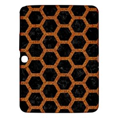 HEXAGON2 BLACK MARBLE & RUSTED METAL (R) Samsung Galaxy Tab 3 (10.1 ) P5200 Hardshell Case