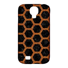 HEXAGON2 BLACK MARBLE & RUSTED METAL (R) Samsung Galaxy S4 Classic Hardshell Case (PC+Silicone)