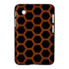 HEXAGON2 BLACK MARBLE & RUSTED METAL (R) Samsung Galaxy Tab 2 (7 ) P3100 Hardshell Case