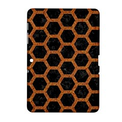 HEXAGON2 BLACK MARBLE & RUSTED METAL (R) Samsung Galaxy Tab 2 (10.1 ) P5100 Hardshell Case