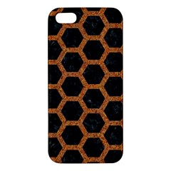 HEXAGON2 BLACK MARBLE & RUSTED METAL (R) iPhone 5S/ SE Premium Hardshell Case