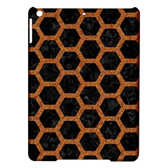 HEXAGON2 BLACK MARBLE & RUSTED METAL (R) iPad Air Hardshell Cases