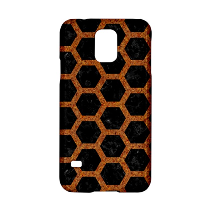 HEXAGON2 BLACK MARBLE & RUSTED METAL (R) Samsung Galaxy S5 Hardshell Case