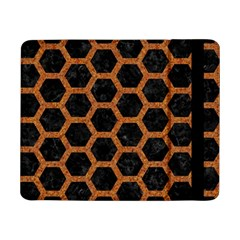 HEXAGON2 BLACK MARBLE & RUSTED METAL (R) Samsung Galaxy Tab Pro 8.4  Flip Case
