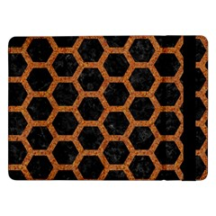 HEXAGON2 BLACK MARBLE & RUSTED METAL (R) Samsung Galaxy Tab Pro 12.2  Flip Case