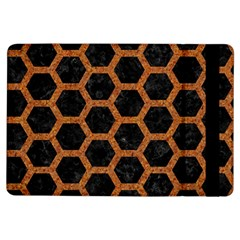 HEXAGON2 BLACK MARBLE & RUSTED METAL (R) iPad Air Flip