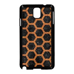HEXAGON2 BLACK MARBLE & RUSTED METAL (R) Samsung Galaxy Note 3 Neo Hardshell Case (Black)