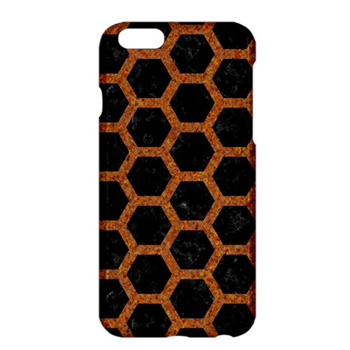 HEXAGON2 BLACK MARBLE & RUSTED METAL (R) Apple iPhone 6 Plus/6S Plus Hardshell Case