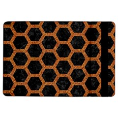 HEXAGON2 BLACK MARBLE & RUSTED METAL (R) iPad Air 2 Flip