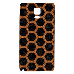 HEXAGON2 BLACK MARBLE & RUSTED METAL (R) Galaxy Note 4 Back Case