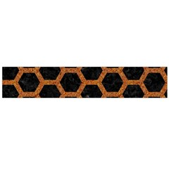 HEXAGON2 BLACK MARBLE & RUSTED METAL (R) Flano Scarf (Large)