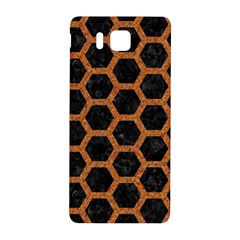 HEXAGON2 BLACK MARBLE & RUSTED METAL (R) Samsung Galaxy Alpha Hardshell Back Case