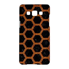 HEXAGON2 BLACK MARBLE & RUSTED METAL (R) Samsung Galaxy A5 Hardshell Case