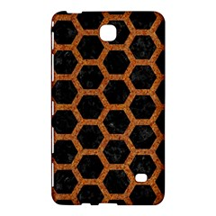 HEXAGON2 BLACK MARBLE & RUSTED METAL (R) Samsung Galaxy Tab 4 (7 ) Hardshell Case