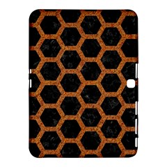 HEXAGON2 BLACK MARBLE & RUSTED METAL (R) Samsung Galaxy Tab 4 (10.1 ) Hardshell Case